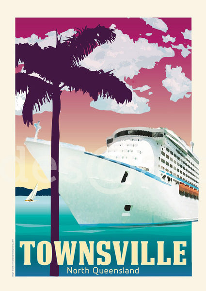 Townsville Poster 'Cruise Ship' with watermark