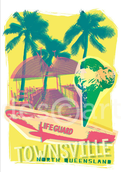 Townville Poster 'Life Guard' with watermark