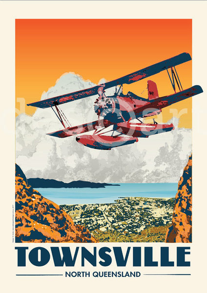 Townsville Poster 'Red Baron' with watermark