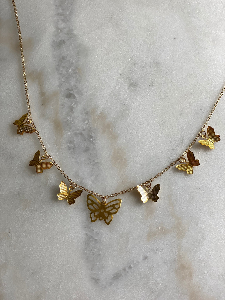Fly Away Butterfly Charm Necklace