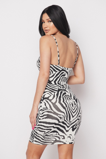 White Zebra Dress