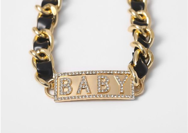 """Baby"" Twisted Choker Necklace"