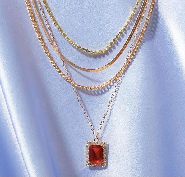 """Dripped in Red"" Necklace"