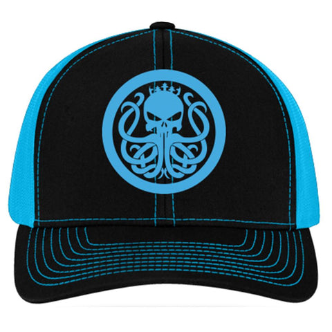 Men's Electric Blue Snap Back Hat - king-kracken