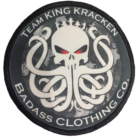 Team Kracken Iron on Patch - King Kracken Outdoor Clothing Co.