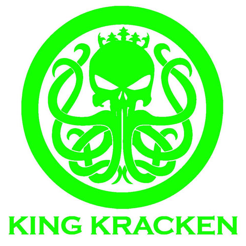 Electric Green Sticker - King Kracken Outdoor Clothing Co.