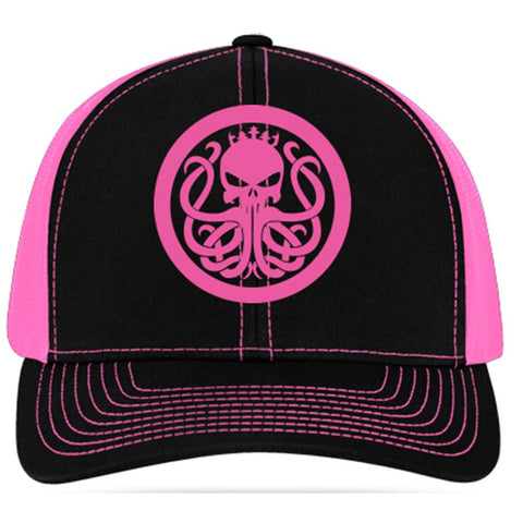 Women's Hot Pink Snap Back Hat - king-kracken