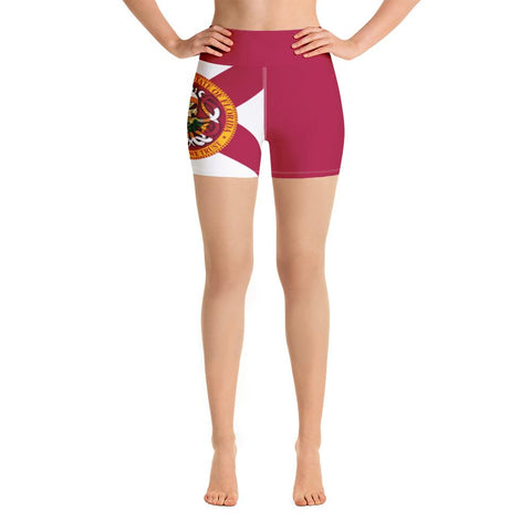 High Waist Yoga Shorts w Pocket - king-kracken