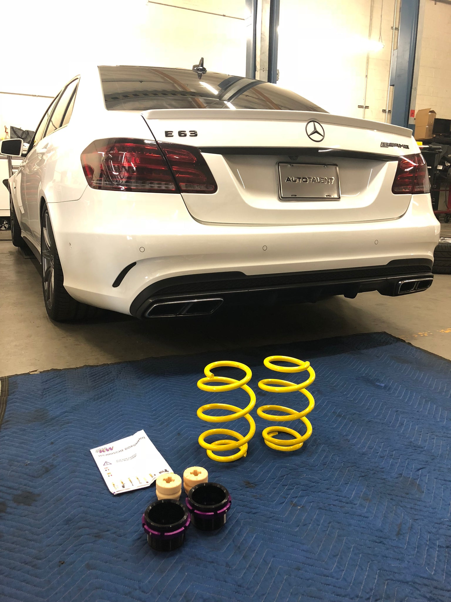 Mercedes E63 AMG KW springs before install