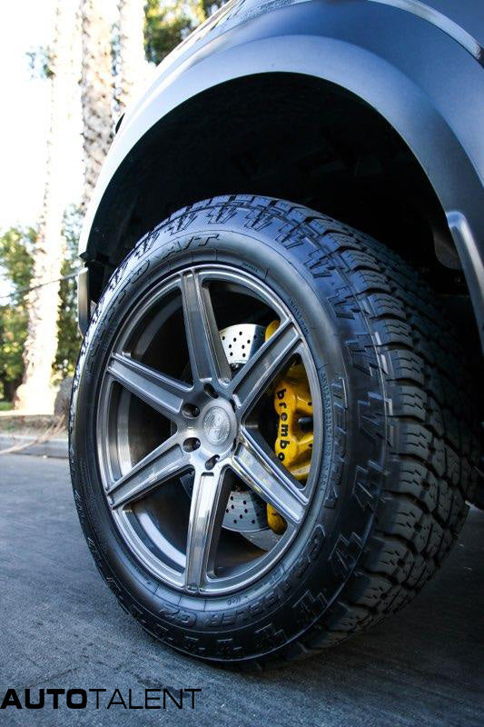 Ford Raptor Gen 2 brushed dark clear Brembo yellow caliper