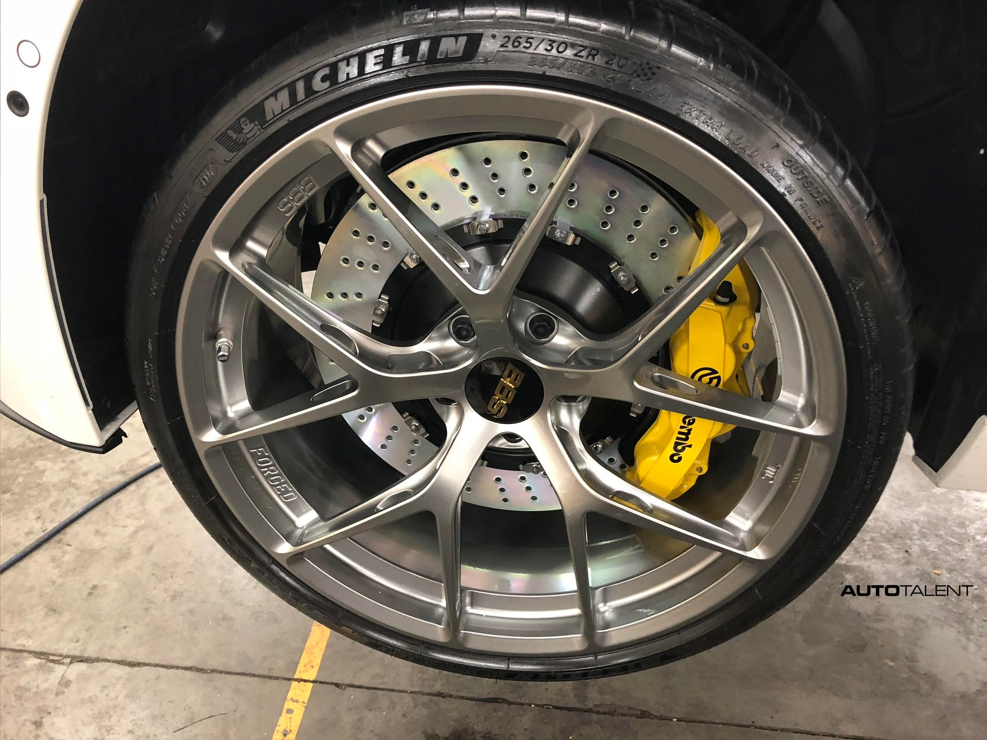 BBS FI-R FIR Brembo BBK Big Brake Kit yellow caliper drilled rotors