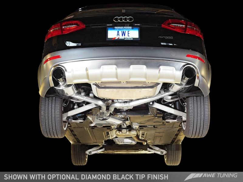 AWE Tuning Allroad Touring Edition Exhaust - Dual Outlet, Polished Silver Tips
