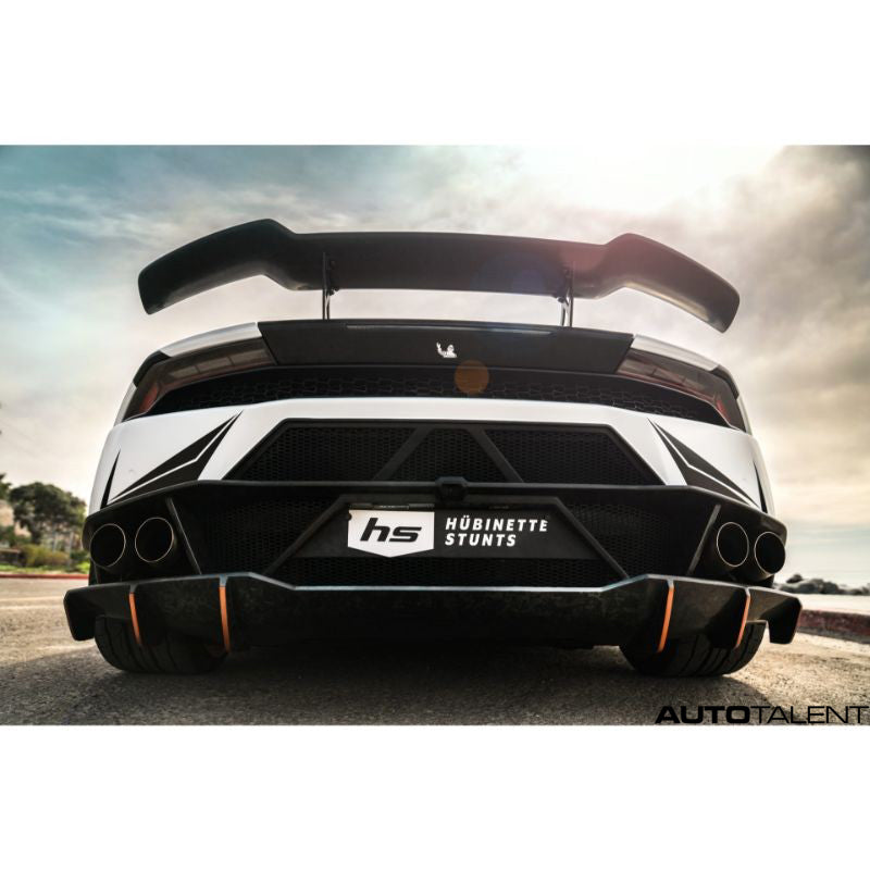 1016 Industries Forged Carbon Renato Rear Wing V2 For Lamborghini Huracan LP-580 2016-2019