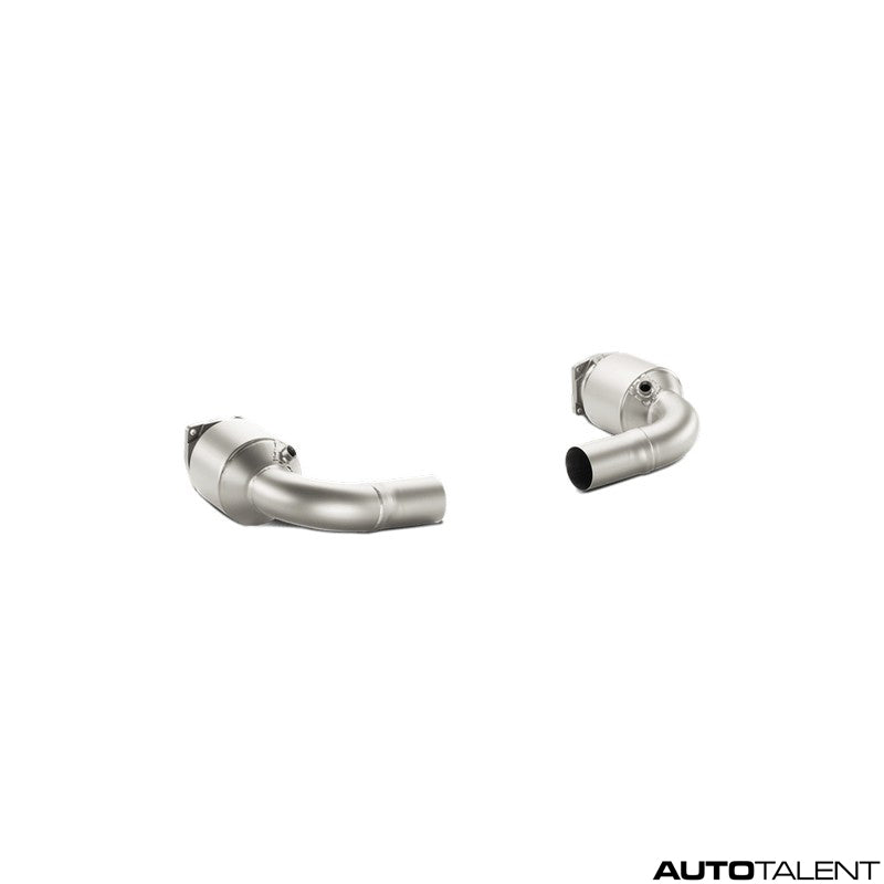 Akrapovic Link Pipe Set w Cat (Titanium) - Porsche 911 Turbo/Turbo S (991), 2014-2015