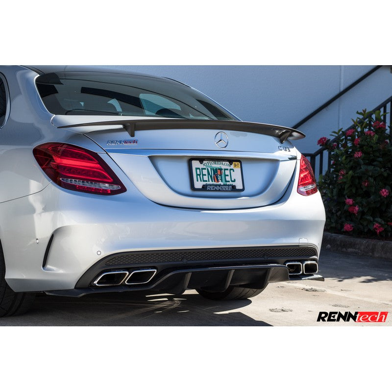 RennTech Performance Carbon Fiber Decklid Spoiler For Mercedes-Benz C63 AMG 2015-2019