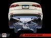 AWE Tuning B9 A4 SwitchPath Exhaust, Dual Outlet - Chrome Silver Tips (includes DP and SwitchPath Remote)