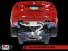 AWE Tuning BMW F3X N20 Downpipe Back SwitchPath Exhaust + SwitchPath Remote, Quad Outlet - Diamond Black Tips (80mm)