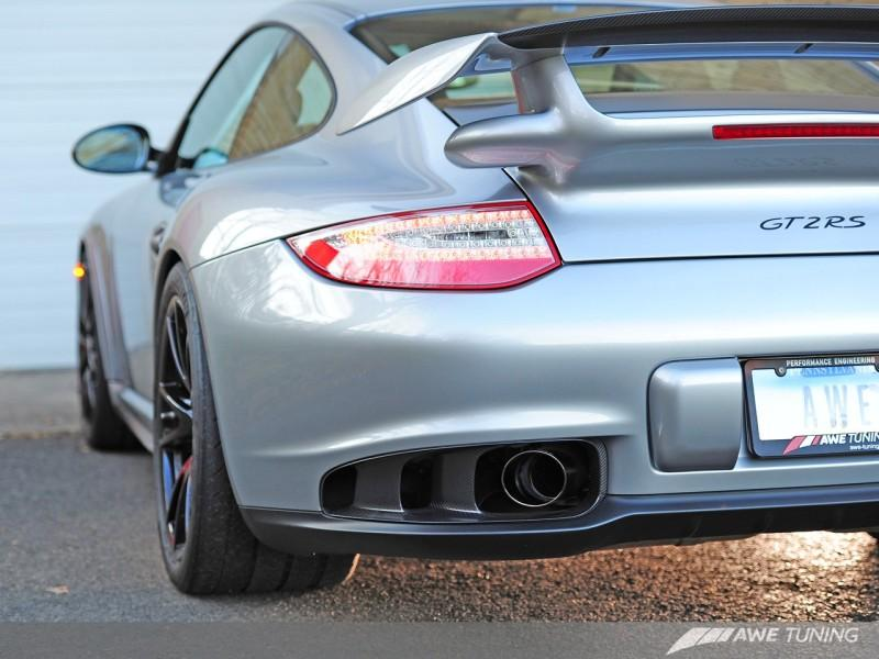AWE Tuning Porsche GT2 RS Performance Exhaust - Polished Silver Tips
