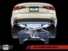 AWE Tuning B9 A4 Touring Edition Exhaust, Dual Outlet - Chrome Silver Tips (includes DP) - autotalent