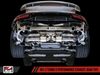 AWE Tuning Porsche 991 Turbo Performance Exhaust and High-Flow Cat Sections - With Black Quad Tips - autotalent