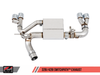AWE Tuning BMW F3X N26 Downpipe Back SwitchPath Exhaust + SwitchPath Remote, Quad Outlet - Chrome Silver Tips (80mm)