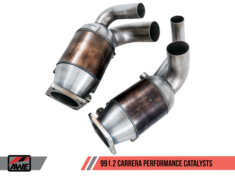AWE Tuning Porsche 991.2 3.0L Performance Catalysts (PSE Only)