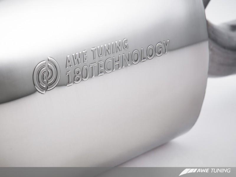 AWE Tuning Porsche Panamera S/4S Touring Edition Exhaust System - Polished Silver Tips