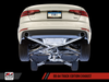 AWE Tuning B9 A4 Track Edition Exhaust, Dual Outlet - Chrome Silver Tips (includes DP) - autotalent