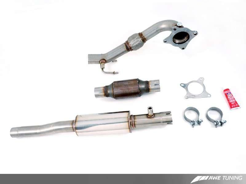 AWE Tuning A3 FWD Cat Back Performance Resonated Exhaust