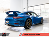 AWE Tuning Porsche 991 GT3 / RS Center Muffler Delete - Chrome Silver Tips - autotalent