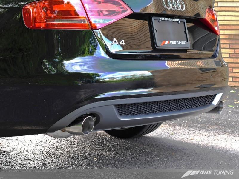 AWE Tuning A4 3.2L Touring Edition Exhaust System - Dual 88.9mm (3.5in) Round Polished Silver Tips
