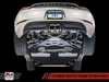 AWE Tuning Porsche 718 Boxster / Cayman Touring Edition Exhaust - Chrome Silver Tips - autotalent