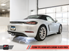 AWE Tuning Porsche 718 Boxster / Cayman Track Edition Exhaust - Chrome Silver Tips