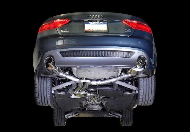 AWE Tuning A5 3.2L Touring Edition Exhaust System - Dual 3.5in Polished Silver Tips