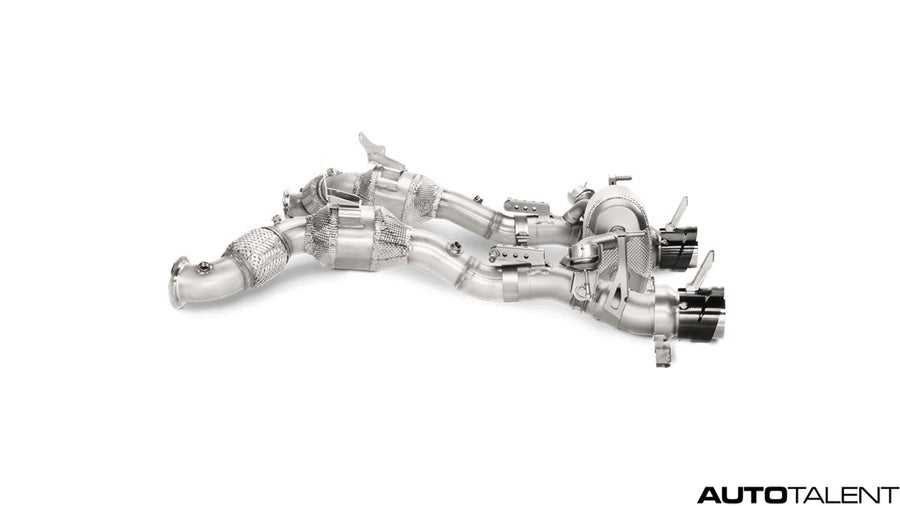 Akrapovic Link Pipe Set w Cat Stainless Steel - Ferrari 488 GTB/488 Spider, 2016-2017