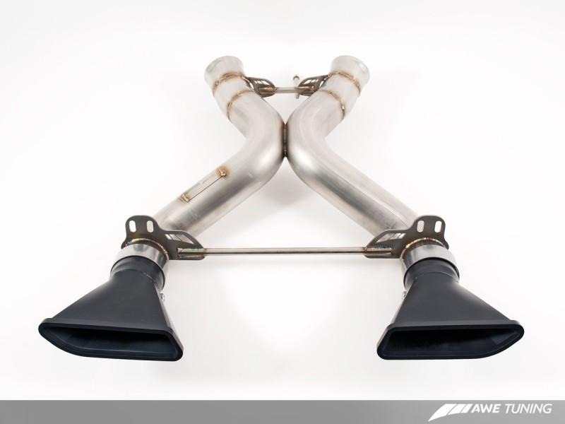 AWE Tuning McLaren MP4-12C Performance Exhaust - Black Tips