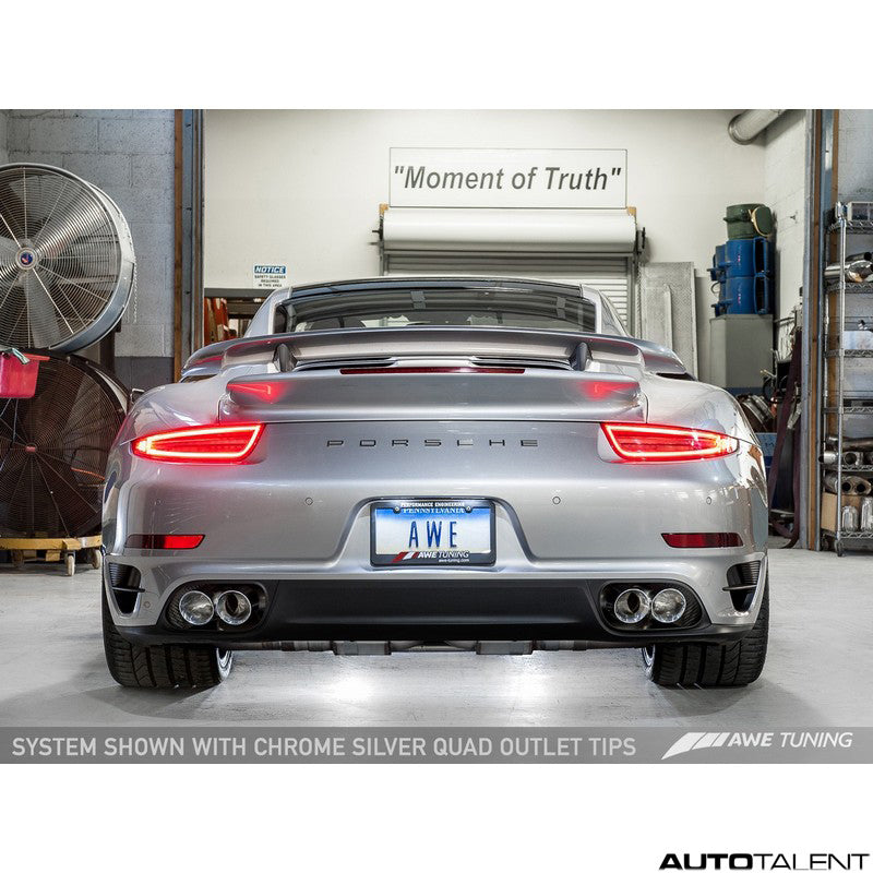 AWE Tuning Performance Cat-Back Exhaust System - Porsche 911 Turbo, Turbo S 991.1 2014-2016