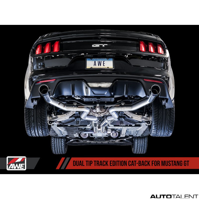 AWE Tuning Track Edition Cat-back Exhaust System - Ford Mustang GT S550 2015-2017
