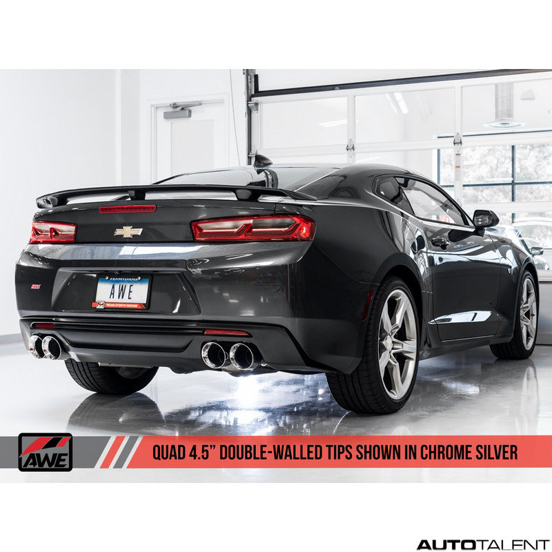 AWE Tuning Track Edition Axle-Back Exhaust - Chevrolet Camaro SS, ZL1 Gen6 2016-2019