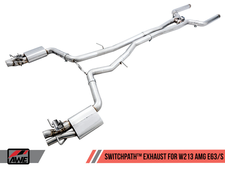 AWE Tuning SwitchPath Cat-Back Exhaust - Mercedes Benz W213 AMG E63, E63 S 2018-2019