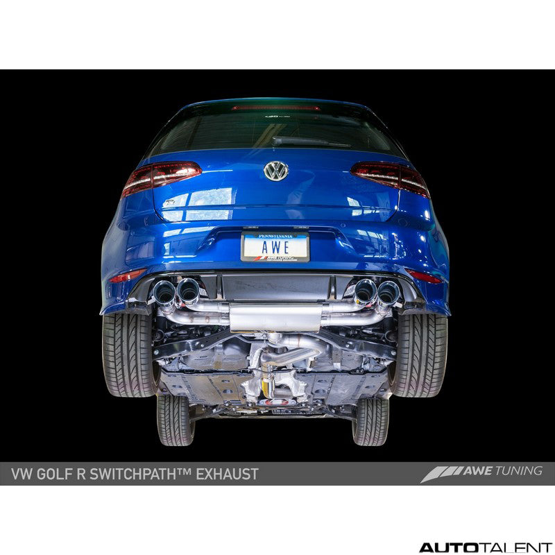AWE Tuning SwitchPath Cat-Back Exhaust - Volkswagen Golf R MK7 2015-2017