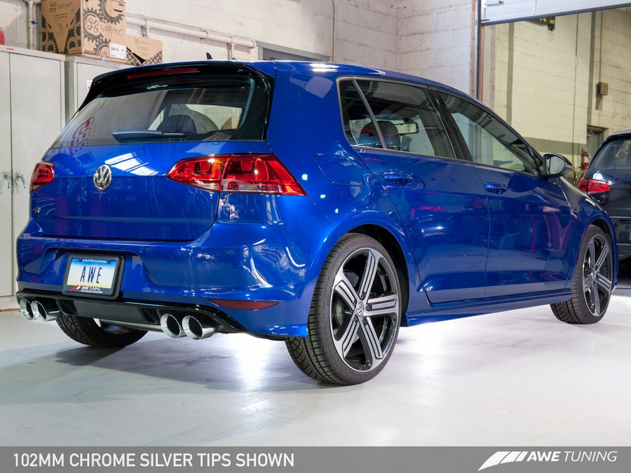 AWE Tuning Track Edition Cat-Back Exhaust - Volkswagen Golf R MK7 2015-2017
