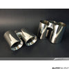 AWE Tuning Polished Silver Tips - AutoTalent