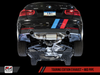 AWE Tuning BMW F3X 340i Touring Edition Axle Back Exhaust - Diamond Black Tips (102mm) - autotalent