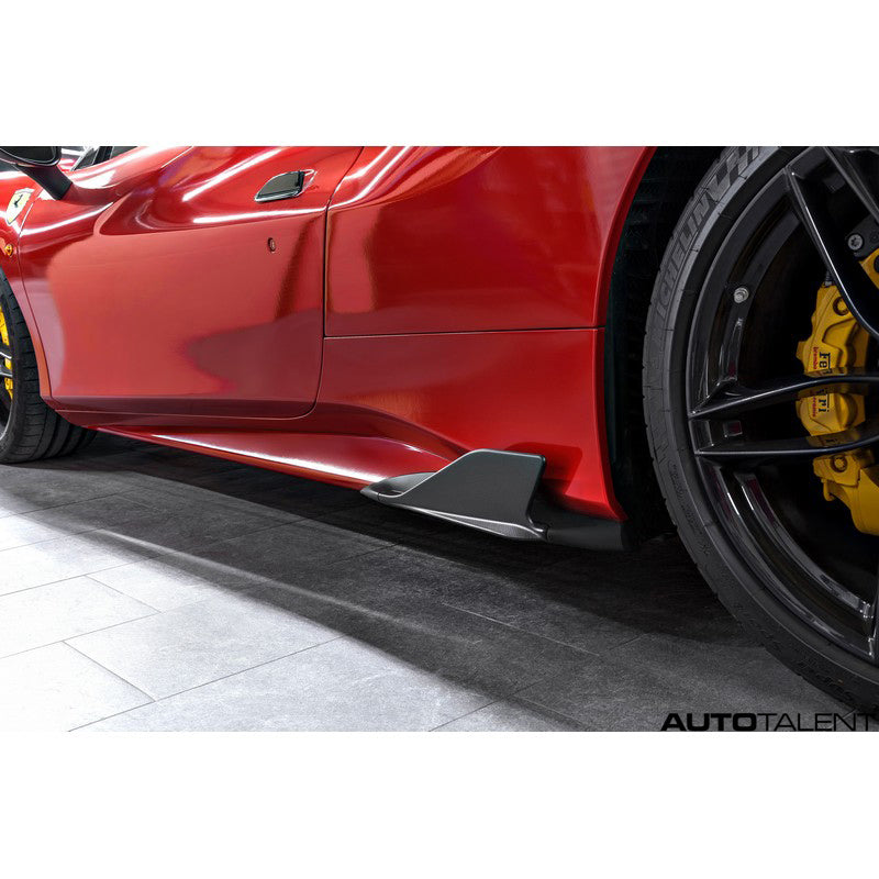Capristo Aero Carbon Side Fins For Ferrari 488 GTB - AutoTalent