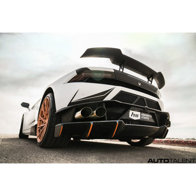 1016 Industries Aero Forged Carbon Rear Bumper For Lamborghini Huracan LP-580 2016-2019