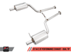 AWE Tuning B7 A4 2.0T Quattro Dual Tip Performance Exhaust - For Manual Cars, Polished Silver Tips - autotalent