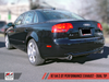 AWE Tuning B7 A4 2.0T Quattro Dual Tip Performance Exhaust - For Tiptronic Cars, Diamond Black Tips - autotalent