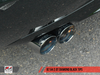 AWE Tuning B7 A4 2.0T Quattro Quad Tip Performance Exhaust - For Manual Cars, Diamond Black Tips - autotalent