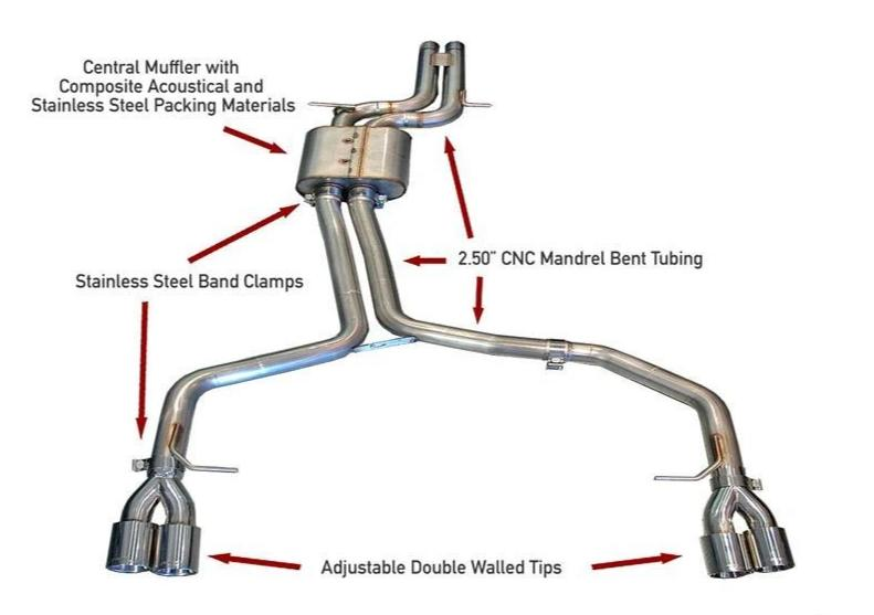AWE Tuning S5 4.2L Track Edition Exhaust System - Polished Silver Tips